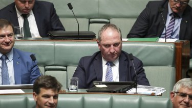Barnaby Joyce during QT.