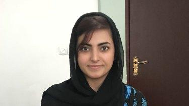 Proud moment: Breshna Musazai.