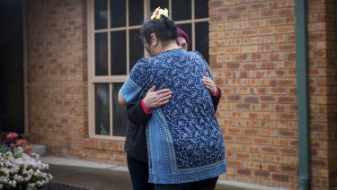 Neighbours of the woman that died yesterday in Maria Court, Cranbourne East.