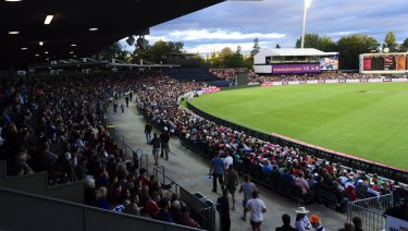 Manuka Oval has hosted one-day internationals and Big Bash games.