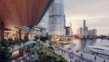 Dexus has proposed a redevelopment of Eagle Street Pier, including two new towers and up to 1.5 hectares of riverfront open space.