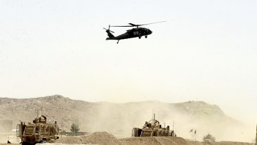 The US-led coalition includes US Marines training and advising the Afghan army and the police.