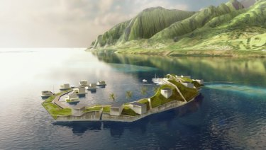 Concept image of French Polynesia project.