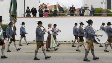 Bavarian regional identity on display at last month's festival in Baierbrunn.