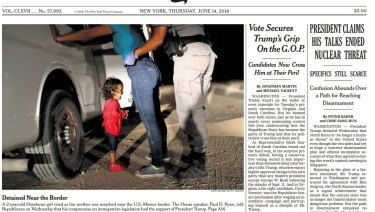 The New York Times front page from last week.