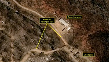The Punggye-ri nuclear test site in North Korea in mid-April.
