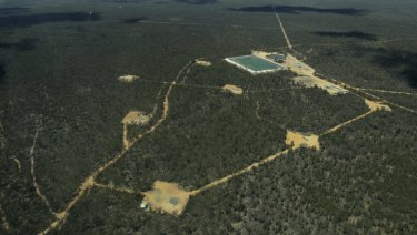 Part of Santos' Narrabri gas project in the Pilliga State Forest.
