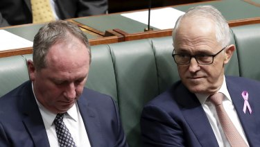 Deputy Prime Minister Barnaby Joyce and Prime Minister Malcolm Turnbull