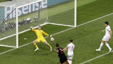 Mario Mandzukic puts Croatia in front.
