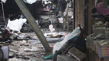 A market in Yala province, southern Thailand, has been bombed.