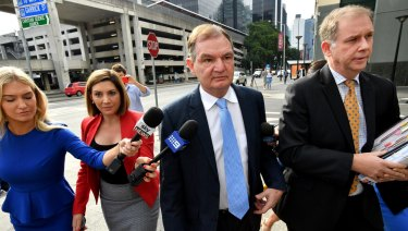 Paul Pisasale arrives at court.