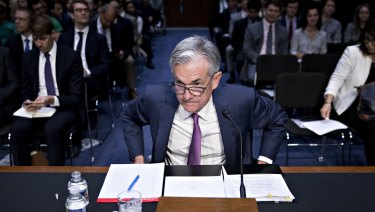 Federal Reserve chairman Jerome Powell addresses Senate banking committee