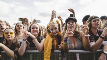 Festival goers endorsed the pill-testing trial taking place.