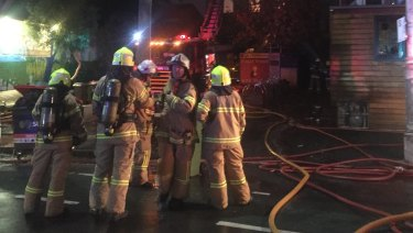 More than 50 firefighters took about 40 minutes to bring the fire at La Mama theatre under control.