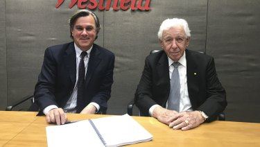 Westfield joint chief executive Peter Lowy and Chairman Sir Frank Lowy have a proven track record.