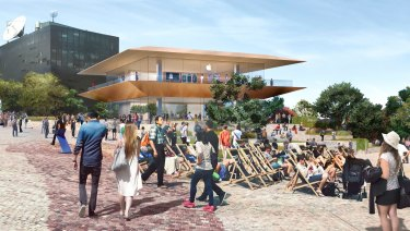 The proposed new Apple store at Federation Square