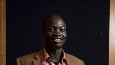 Wanding Paul Pouk , a South Sudanese refugee who trained as a psychiatric nurse in Australia.