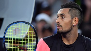 Nick Kyrgios's brother stirred controversy for wearing a t-shirt promoting a sports wagering provider during a prime-time match.