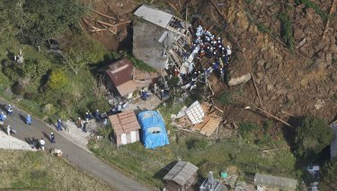 The landslide happened in the early hours of Wednesday morning while people were sleeping.