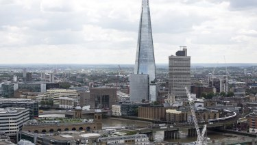 London is the cited example of a medium-density city.