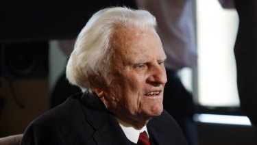 Billy Graham, pictured in 2010, suffered Parkinson's disease and had faced many ailments later in life.