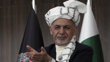 Afghani President Ashraf Ghani.
