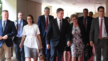 New and old Labor MPs walk into the first caucus meeting following the Queensland election.