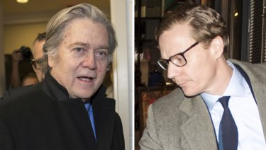 Running the show: Steve Bannon and Alexander Nix.