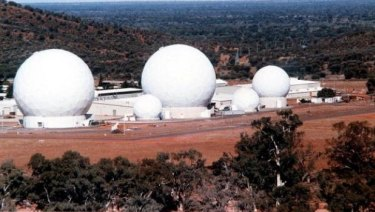The top-secret joint US-Australian base at Pine Gap near Alice Springs.