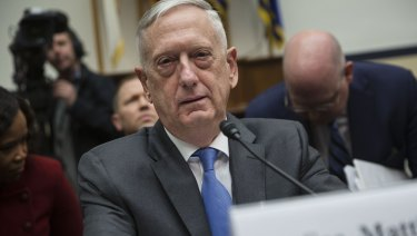 Incomplete evidence: Jim Mattis, US secretary of defence.