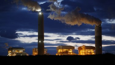 Trump sought to water down the EPA and its climate change fighting abilities. Here emissions rise from the coal-fired Santee Cooper Cross power plant in Pineville, South Carolina.