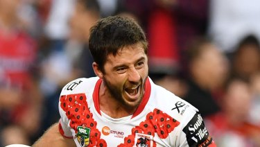 Star: Dragons halfback Ben Hunt had another stunning match for his new club.