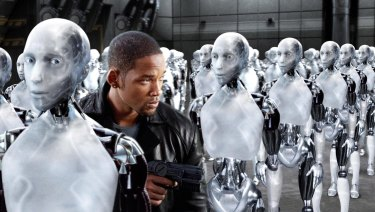 In the 2004 film, I, Robot, robots start to think for themselves.