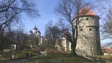 Nice - if a bit fresh - in northern spring, Tallinn, Estonia.