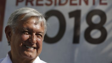 Presidential candidate Andres Manuel Lopez Obrador, seen as likely more antagonist towards the US.