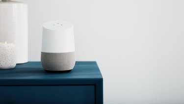 The Google Home, which along with the Home Mini is the only established smart speaker in Australia so far.