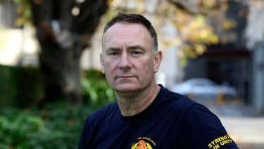 Head of the firefighters' union Peter Marshall.
