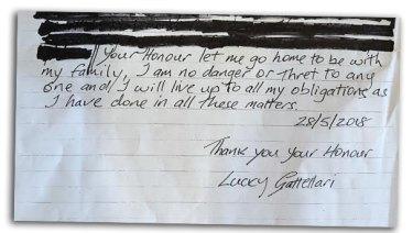 The second half of Gattellari's letter.