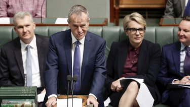 Opposition Leader Bill Shorten during question time in Parliament on Thursday.