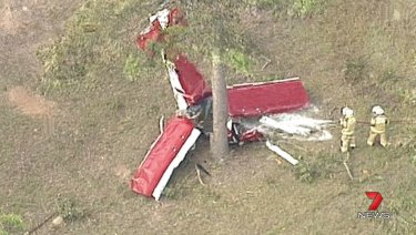 The agricultural aircraft crashed in Coominya in the Somerset Region.