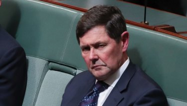 Kevin Andrews in federal Parliament last month.
