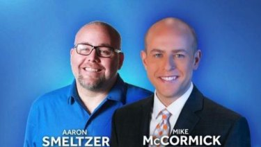 WYFF-TV Anchor Mike McCormick and photojournalist Aaron Smeltzer were killed by a fallen tree, during subtropical storm Alberto in North Carolina on Monday.