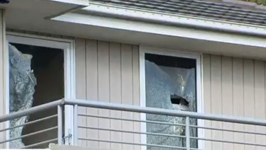Party-goers smashed windows in the Hawthorn East property.