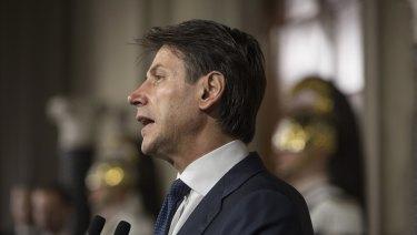 Giuseppe Conte, Italy's PM designate.