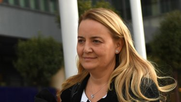 Commonwealth Bank executive Marianne Perkovic, outside the Royal Commission.