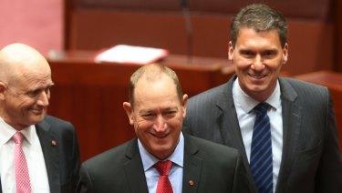 David Leyonhjelm, Fraser Anning and Cory Bernardi have formed a voting alliance.