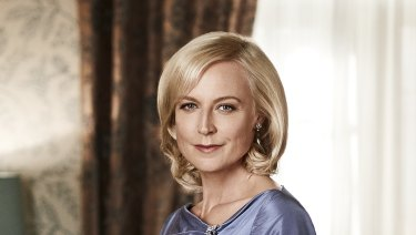 Marta Dusseldorp as Sara Adams, one of the characters Bevan Lee is trying to forget, from A Place to Call Home.