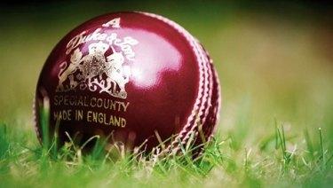 An English Dukes cricket ball.