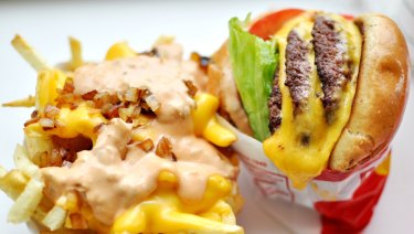 The calorific 'animal-style' goodness of In-N-Out Burger.