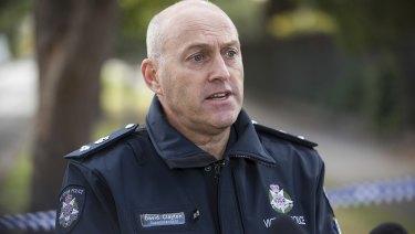 Superintendent David Clayton at Princes Park on Wednesday.